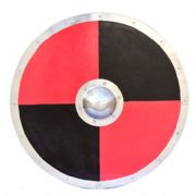 Viking Red & Black Round Shield